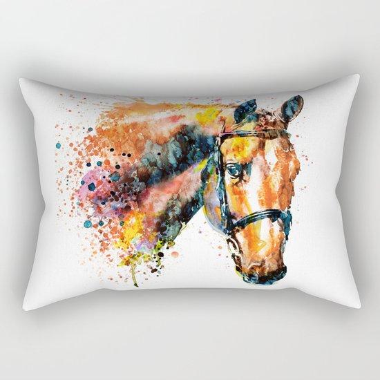 Colorful Horse Head Rectangular Pillow
