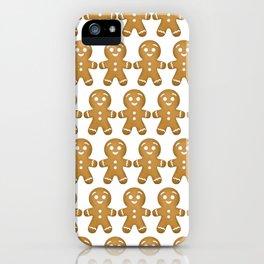 Gingerbread Cookies Pattern iPhone Case