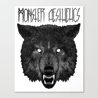the hound Canvas Prints featuring  ‡ hell hound ‡  by trevor nicholls