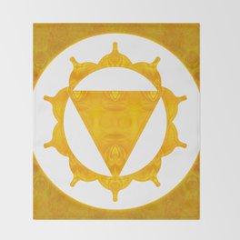 Energy Center Abstract Chakra Artwork Throw Blanket