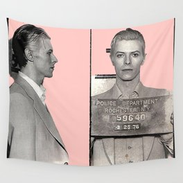 PINKY BOWIE ARRESTED Wall Tapestry
