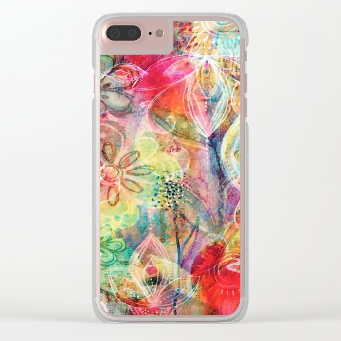 Summer Floral Dreams Clear iPhone Case
