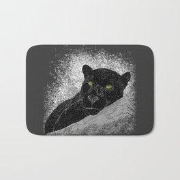 Black panther on a branch - Grey Bath Mat