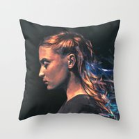 sansa stark Throw Pillows featuring Amethyst by Alice X. Zhang