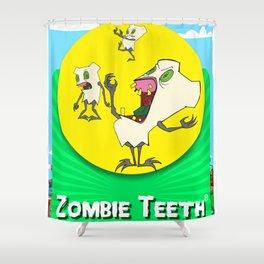 Zombie Teeth Shower Curtain