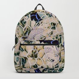 Flowered Giraffe Print Backpack