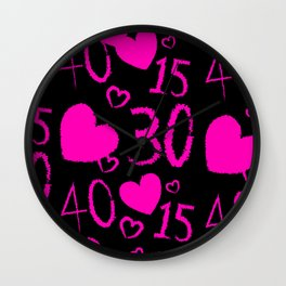 Alien Tnns Pink Wall Clock