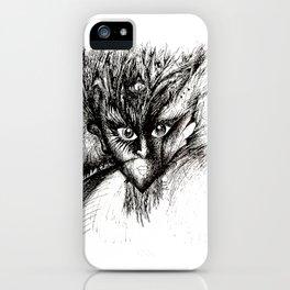 Owl Girl Eyes iPhone Case