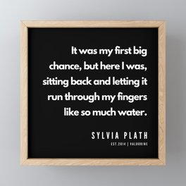 76       Sylvia Plath Quotes   190604 Framed Mini Art Print