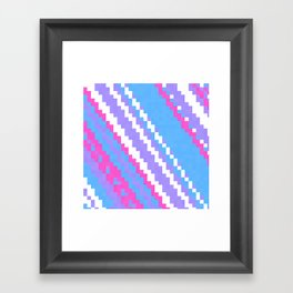pink blue purple and white Framed Art Print