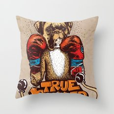 true boxer Throw Pillow