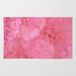 Soft Pastel Pink Vintage Rose Quartz Collage Rug