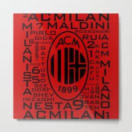 MixWords: Ac Milan Metal Print
