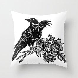 The Ravens Throw Pillow