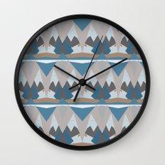 Geometric Snow Tops Print Wall Clock