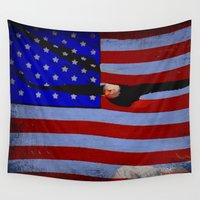america Wall Tapestries featuring America!!  by Alaskan Momma Bear