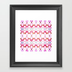 Diamond Geo Pinks & Blues Framed Art Print