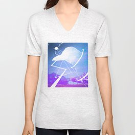 Space Crow -By Mantle Unisex V-Neck