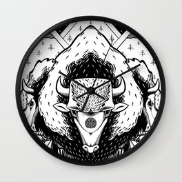 Spirits of the West Wall Clock