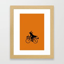 Witch on a Bicycle Framed Art Print