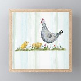 Fun on the Farm: Rooster Framed Mini Art Print