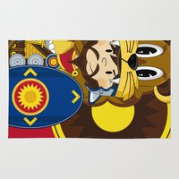 roman Area & Throw Rugs featuring Roman Soldier by markmurphycreative