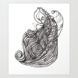 unfortunate love story: con Art Print