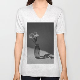 Shadow and flower Unisex V-Neck