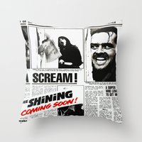the shining Throw Pillows featuring Shining by Maioriz Home