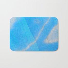 Silky Blue Sky Soft Love Boho Silk Print Bath Mat