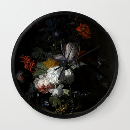 "Jan van Huysum ""Flowers in a glass vase"" Wall Clock"