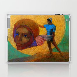 """Odilon Redon """"Figure Holding the Head of an Angel (also known as The Fall of Icarus)"""" Laptop & iPad Skin"""