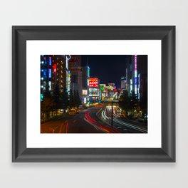 Tokyo Night Streets Framed Art Print
