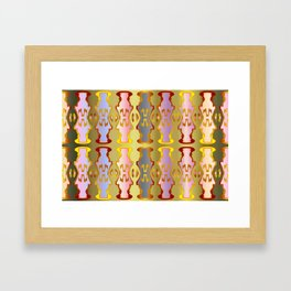 Pattern by different pairs Framed Art Print