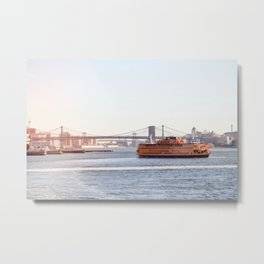 Staten Island Ferry to Manhattan Metal Print