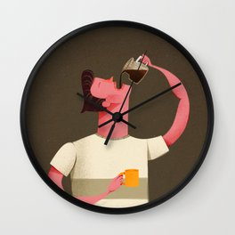 Coffee Drinker Wall Clock