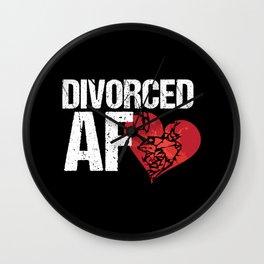 Divorced AF Wall Clock