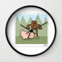 bigfoot Wall Clocks featuring Bigfoot by Masonic Comics