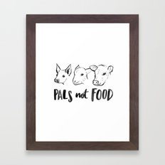 Pals Not Food Illustration by Laura Tubb Framed Art Print