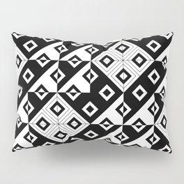 Diagonal squares in black and white Pillow Sham