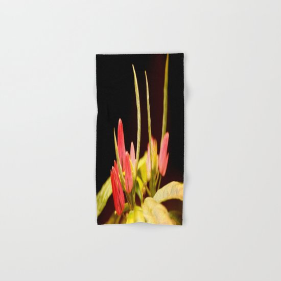 Exotic Colorful Flowers Hand & Bath Towel