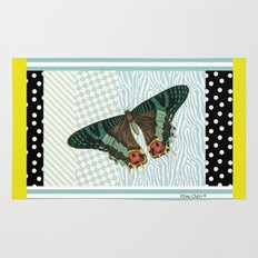 Mint butterfly Rug