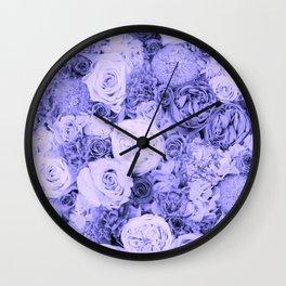bouquet ver.blue-b Wall Clock