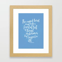 The Caged Bird's Fearful Trill Framed Art Print