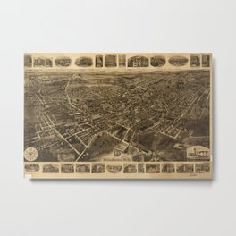 Aerial View of Middletown, New York (1921) Metal Print
