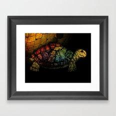 Turtle Glow Framed Art Print