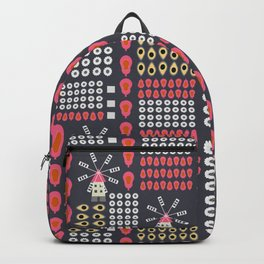 Windmills, fruits and flowers Backpack
