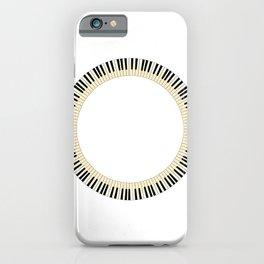 Pianom Keys Circle iPhone Case