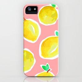 Lemon Crush 2 iPhone Case