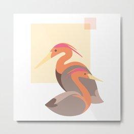 Herons in Autumn Metal Print